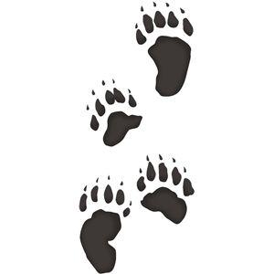 Silhouette Design Store Bear Tracks Bear Stencil Paw Print Art Bear Paw Print
