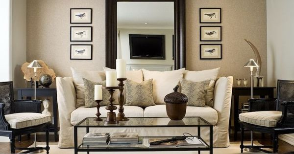 tan black and white serene living room living room pinterest