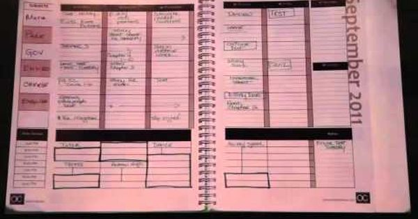 Academic planner for students who have adhd or learning for For planner