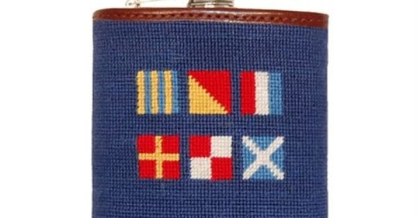 Got Rum Needlepoint Flask by Smathers & Branson