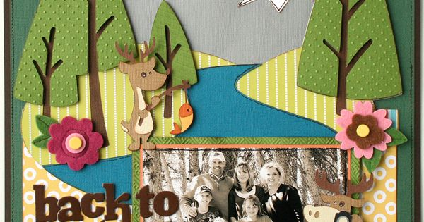 Cricut Back to Nature layout by Jana Eubanks -- Love this and