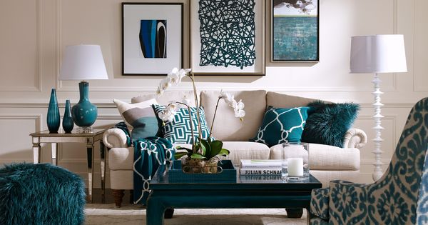 Boscov S Blue Lagoon Sofa And Coffee Table: Blue Lagoon Living Room
