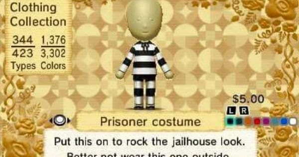 My Tomodachi Life Clothing List Prisoner Costume Clothes Prison