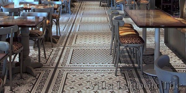 Intricate Restaurant Floor Layout With Sections Of Terrades