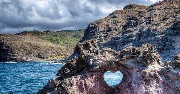 Heart Shaped Rock, Maui, Hawaii lovers nature erosion romance travel byojet