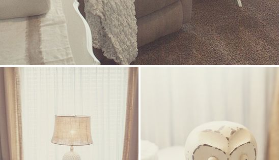 Love the little end table for momma :) Ella's Soft, Peaceful Nursery...