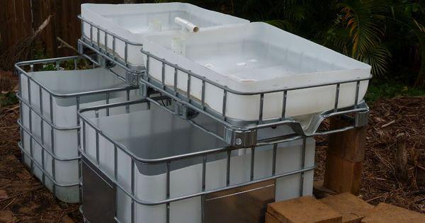 Aquaponics setup from ibc totes find on craigslist for for Fish tanks craigslist