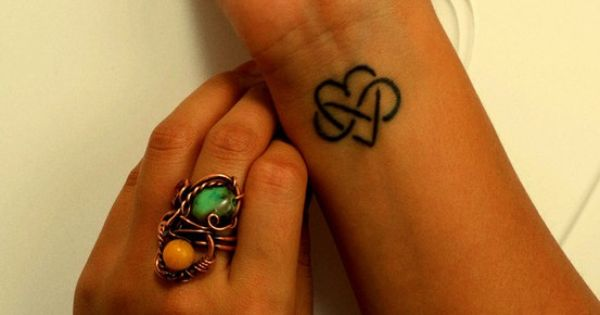 Infinity heart wrist tattoo