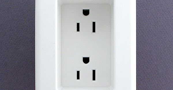 Note to self...if you ever build or remodel - use recessed outlets