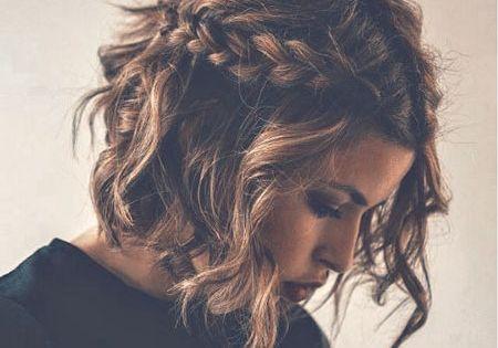 #bob short hair cut curl wave braid crown shorthairstyles shorthair