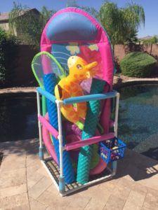 Diy Pool Toy Storage Pool Toy Storage Diy Pool Toys Diy Pool