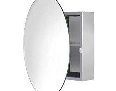 Croydex Severn Stainless Steel Circular Mirror Cabinet Badezimmer Hangeschrank Runde Spiegel Badezimmer