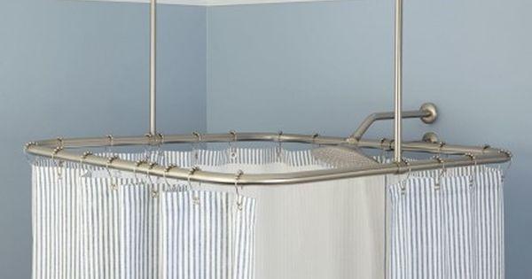 Square Ceiling Mount Shower Curtain Rod Signature Hardware