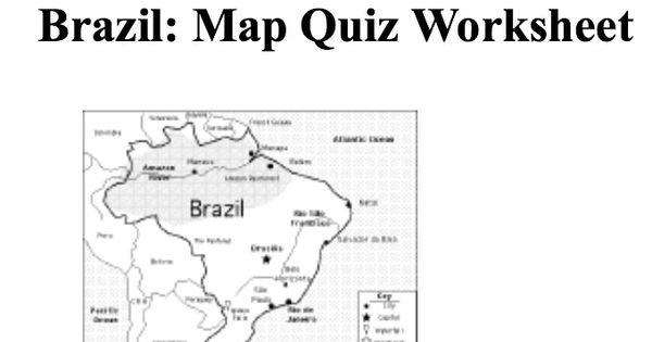 brazil map a quiz worksheet fifa world cup activities for school pinterest worksheets map. Black Bedroom Furniture Sets. Home Design Ideas