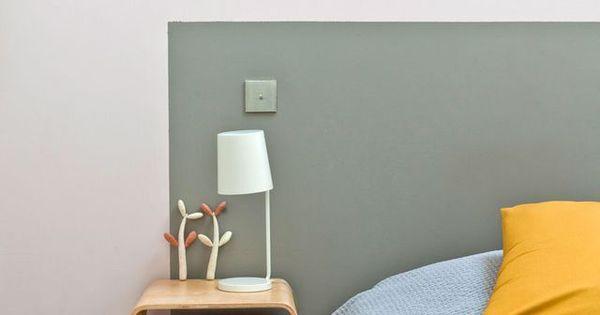 Un coup de peinture kaki et hop une t te de lit d co - Creer une tete de lit originale ...
