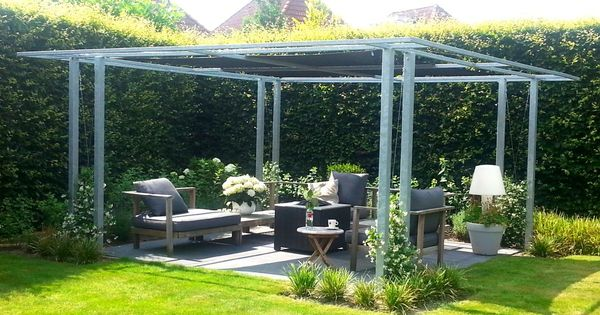 schaduwlounge carolyn metaal en doek pergola pinterest pergolas. Black Bedroom Furniture Sets. Home Design Ideas