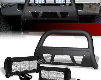 Sponsored Ebay For 05 07 Ford F250 F350 Matte Blk Studded Mesh Bull Bar 36w Cree Led Fog Lights Bull Bar Honda Pilot Led Fog Lights