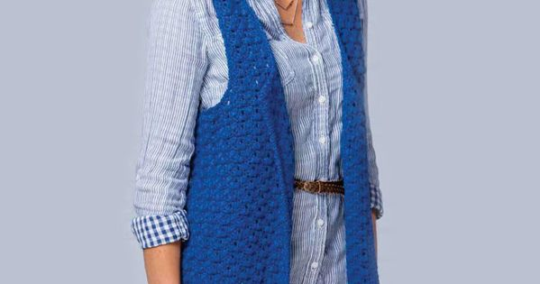 Womens sleeveless jacket crochet pattern free crochet ...