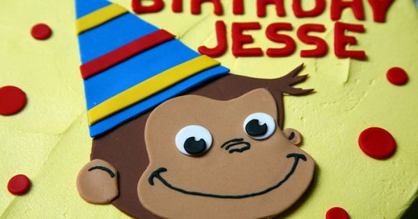 Free Curious George Face Template - the rest of it looked ...  Free Curious Ge...