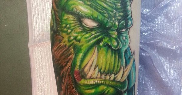 World of warcraft orc tattoo by jeremiah klein at iron for Iron lotus tattoo