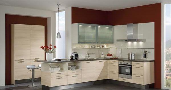 Une cuisine moderne en forme de l qui reprend l - Cuisine en forme de l ...