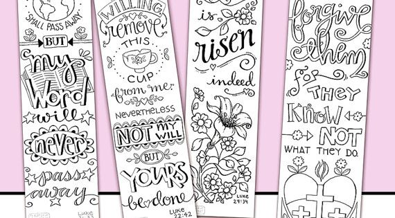 NEW Luke 21 24 Bible Journaling Color Your Own Traceable