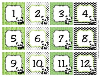 These Sweet Calendar Numbers Are Great For A Panda Theme Classroom Includes Numbers 1 31 Numbers Would Also Be Gr Calendar Numbers Panda Bear Classroom Decor