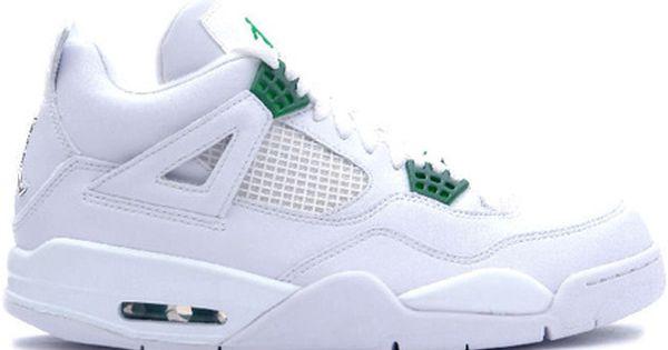 ocio Persona con experiencia Contribuyente  Jordan 4 Retro White Chrome Classic Green - Nike Air Jordan 4 (IV) Retro -  White / Chrome - Classic Green, Jordan Shoes -…   Jordan 4, Air jordans, Air  jordan shoes