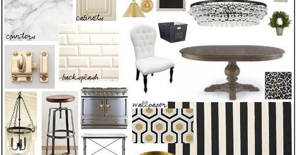 Chic Kitchen Design Board Via Modern Grace Designs