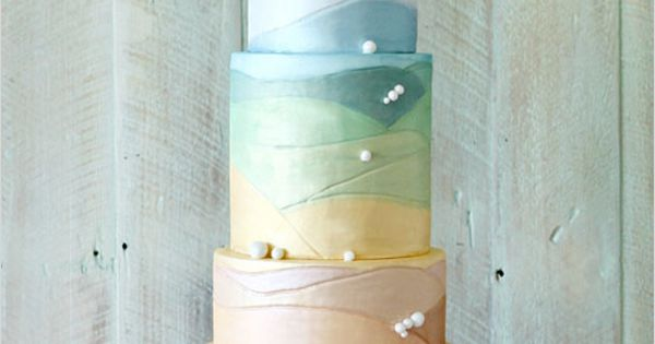 Beautiful Four Tiered Cake with Pastel Colors