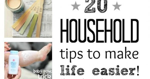 20 household tips to make your life easier ...why didn't I think