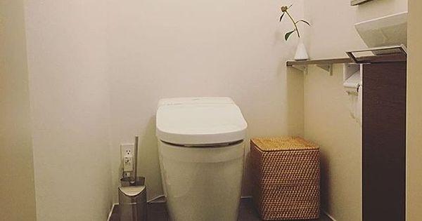 アクタス ラタンバスケット ラタン 無印良品 スティックリモコン などのインテリア実例 2016 08 29 16 46 58 Roomclip ルームクリップ トイレ 床 タイル シンプル トイレ トイレ インテリア