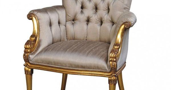 Versailles silk gilt chair rococo pinterest sillas - Sillas chippendale ...