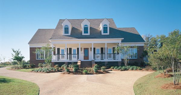 Frong covered porch and dormer windows add charm to this 4 for House plans with dormers and front porch