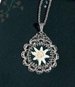 40 1 costume-Necklace Chocker Edelweiss Gr
