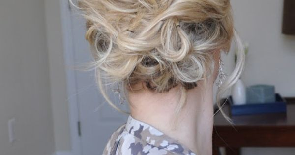 The Small Things Blog: The Messy Side Updo - perfect for a