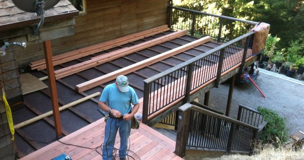 New Redwood Deck Over Carport Http