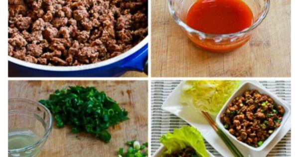 -Carb Sriracha Beef Lettuce Wraps | Beef Lettuce Wraps, Lettuce Wraps ...