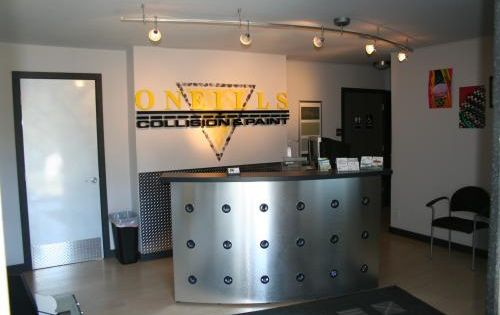 Lobby Renovation This Professional Auto Body Shop Was