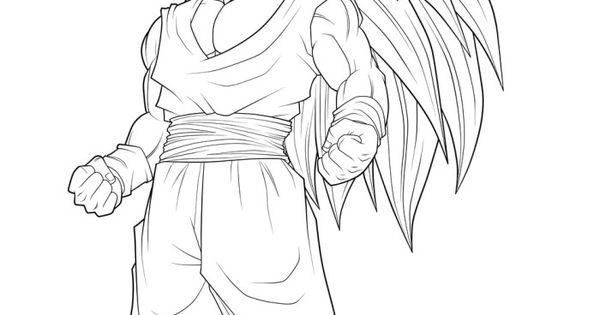 Free Coloring Pages Of Goku Super Saiyan 3: Dragon Ball Goku Super Saiyan 3 Coloring Pages