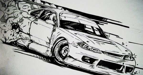 Nissan Silvia S15 Drift Car Illustration My Illustration