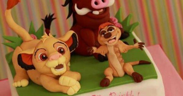 Pumba Cake: Simba And Pumba Cake