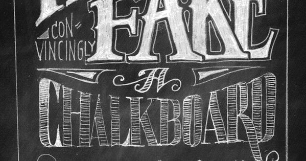 DIY: Photoshop chalkboard