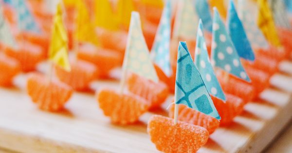 nautical orange slice boats - these are so cute if we could