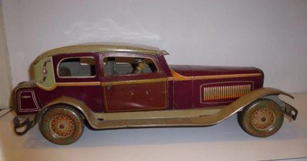 Antieke Blikken Speelgoed Auto Omstreeks 1930 Merk Tipp Co Mercedes Formaat 50 Cmndefined Vintage Speelgoed Antiek Speelgoed Speelgoed