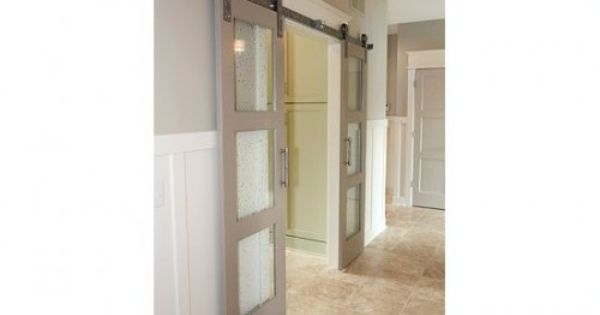 Love the idea of having sliding barnstyle doors to enclose for Sliding doors that look like french doors