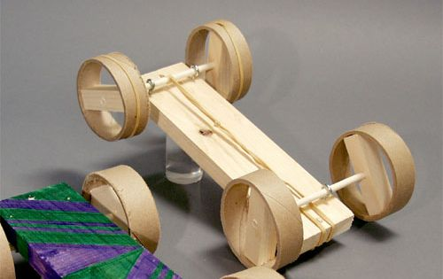 How To Build A Rubber Band Car 58