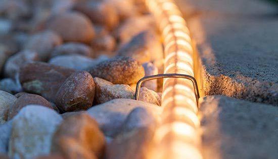 Brilliant lighting garden archives brilliant lighting - 3 Borderline Genius Ways To Use Rope Light In Your