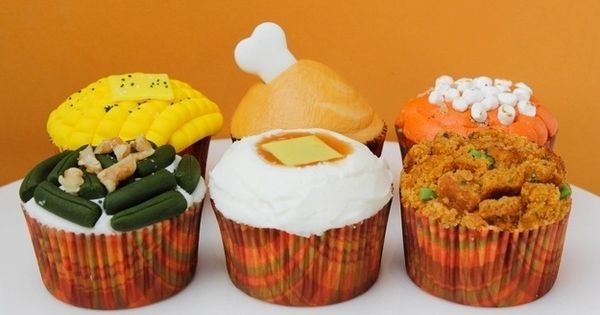 Thanksgiving Dinner Made Out of Cupcakes Stuff I Stumbled Upon ...