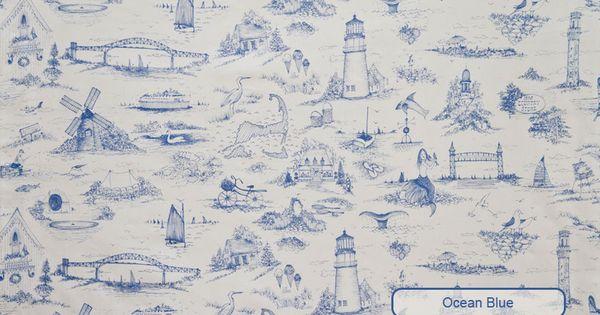 Cape Cod Toile Fabrics Wallpaper Custom Carpets Plllows